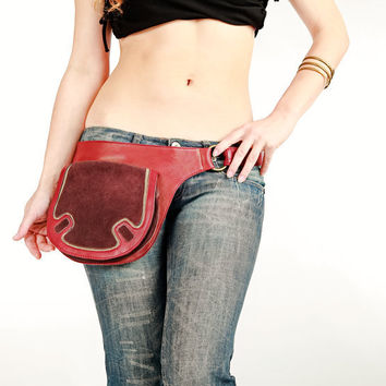 Maroon leather bags for women leather cross body bag by Shovavaleather
