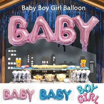 Baby Boy Girl Foil Balloon Kids Birthday Event Party Supplies Baby Shower Decorations Children Party Connection Letter Aluminum