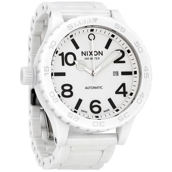 Nixon Ceramic 51-30 White Dial Automatic Mens Watch A147-1126