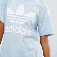 adidas Originals Blue Trefoil Boyfriend T-Shirt