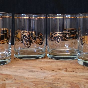 Culver Double Old Fashioned Classic Car Glasses