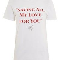 'Saving All My Love' Slogan T-Shirt by And Finally - New In Fashion - New In