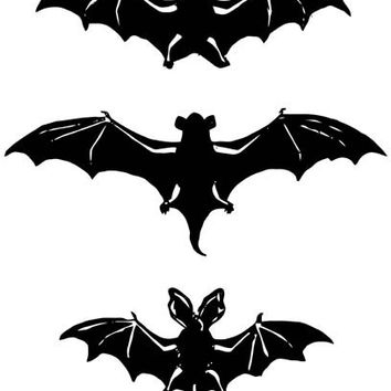 3 bats silhouette clipart png clip art Digital graphics download images art printables Halloween animals digital stamp