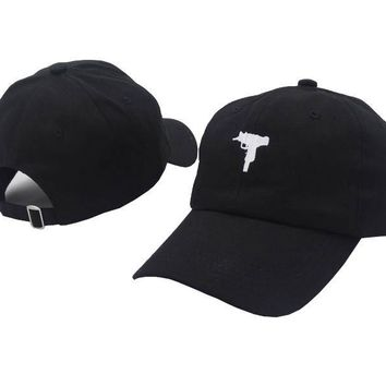 New Rare KYC Vintage UZI Gun Snapback Dad Hat Cap Printed Pink Baseball Cap Women Men Brand Hip Hop Sports Bones Male Female
