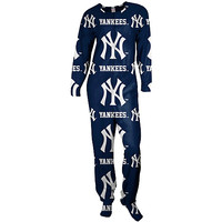 New York Yankees Highlight Footie Pajamas by Concepts Sport - MLB.com Shop