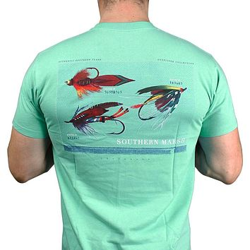 Outfitter Series Collection Tee in Bimini Green by Southern Marsh