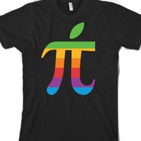 apple pi-Unisex Black T-Shirt