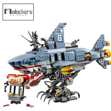 Mailackers M04002 Compatible The Legoing Ninjagoe Movie 70656 Garmadon Set Big Shark 929Pcs Building Blocks Toys legoing 06067