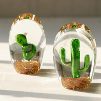 Glass Saguaro Cactus Orb | Urban Outfitters
