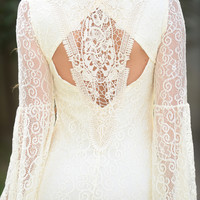 Lovely Lace Dress - Cream