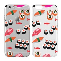 Case for Iphone 6/Iphone 6S-Cream Cookies-Sushi Food Foodie Jumk Weird Cute Clear Pattern Premium Ultra Slim Hard Plastic Cover Case