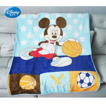 Cartoon Mickey Mouse Printed Blankets Throws 100*140CM Size for Baby Kids on Sofa Couch Crib mantas para cama
