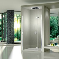 Niche crystal shower cabin with hinged door Pura 5000 New Aura Collection by DUKA