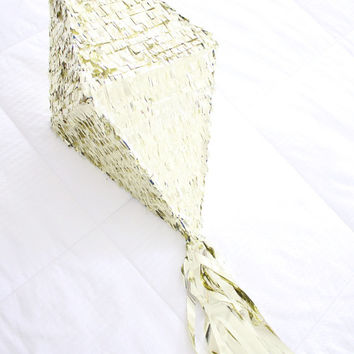 Gold Diamond Pinata with Gold Tassel Garland