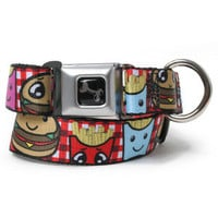 Burger and Fries Cartoon Dog Collar