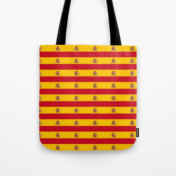 Flag of spain 2-spain,flag,flag of spain,espana, spanish,plus ultra,espanol,Castellano,Madrid,prado Tote Bag by oldking