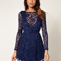 ASOS | ASOS Lace Dress with Full Skirt at ASOS