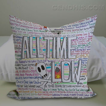all time low music band Pillow Case, Pillow Cover, Custom Pillow Case