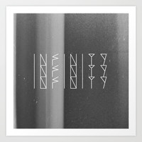 Infinity Forever  Art Print by Jane Lacey Smith