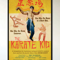 The Karate Kid - Retro Movie Poster - 1960's 1970's Vintage Martial Arts Movie Inspired, Alternative Pop Art