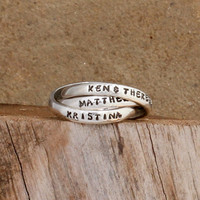 Triple Name Ring by Nelle and Lizzy