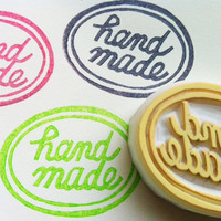handmade stamp. hand carved rubber stamp. stamp for maker/artist/crafter. gift wrapping/craft projects.