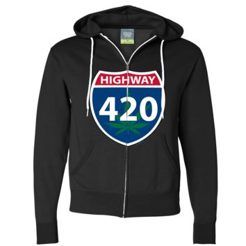 Highway 420 Zip-Up Hoodie