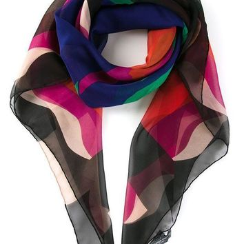 PEAPONJF Alexander McQueen abstract skull print scarf