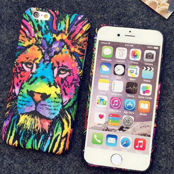 3D Lion Animal Luminous Light Up Skull iPhone 6S 6 Plus Case Best Gift