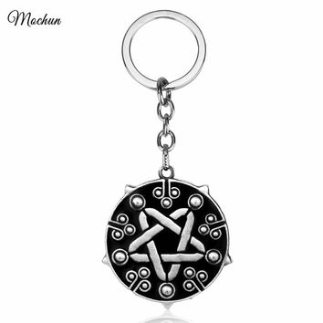 MQCHUN Game Key Chain The Witcher 3 Yennefer Wild Hunt Medallion Amulet Keychain Metal Key Ring Chaveiro Charm Pendant Gift 2017