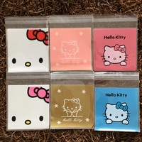 50 pieces/lot 10*10CM Lovely Hello Kitty 6 Designs Self adhesive Plastic Bags For Cookies, Biscuits,Candy-in Candy Boxes from Home & Garden on Aliexpress.com   Alibaba Group