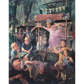 Travelling Ballet - Limited Edition Hand Embellished Giclee on Stretched Canvas by Bob Byerley