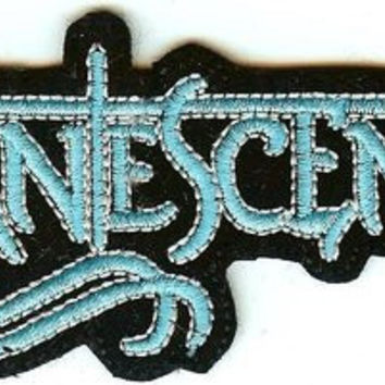 Evanescence Iron-On Patch Blue Letters Logo