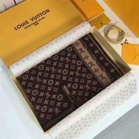 Best Online Sale Luxury Louis Vuitton LV Keep Warm Scarf Soft Scarves Winter Wool Beautiful Shawl #1