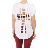 White Cross Lazer Back Cut Out Top