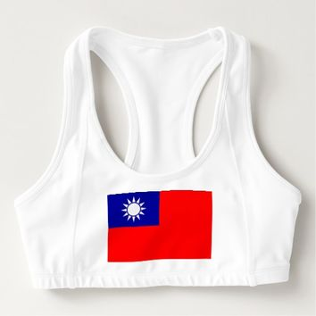 Women's Alo Sports Bra with flag of Taiwan