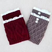 Women's Knit/Crochet Boot Cuff