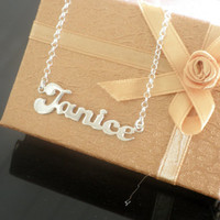 Name Necklace 925 Sterling Silver - Personalized Name Chain -Choose any name to personalize