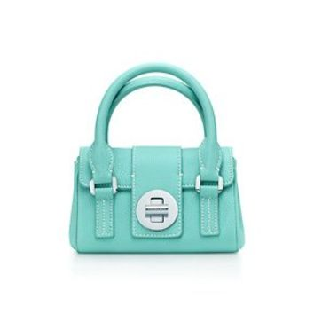 Tiffany & Co. -  Manhattan satchel in Tiffany Blue® grain leather, mini. More colors available.