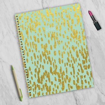 Gold Strokes Large Weekly/Monthly Planner