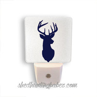 Deer Head LED Night Light Woodland Nursery Decor Lots of Colors!