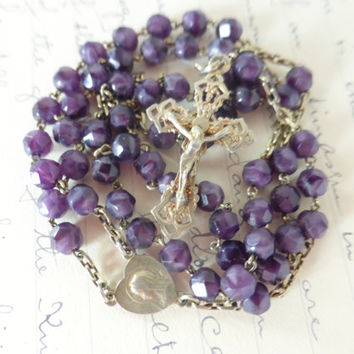 Antique French Purple Rosary