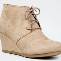 Amazon.com: REX Designer toms Inspired Stitch Detail Lace Up Ankle Bootie Wedge: Shoes