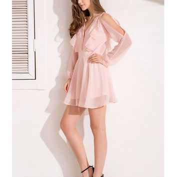 Elegant Chiffon Ruffles Sexy Dress