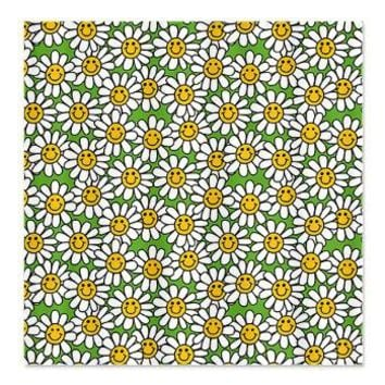 Smiley Daisy Flowers Pattern Shower Curtain> Multi-colored Gifts> Hippy Gift Shop Funky Hippie Gifts