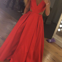 Sleeveless Prom Dresses,Straps Prom Dresses,Long Evening Dress