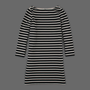 MILL MERCANTILE - Samuji - Everyday Stripe Roma Dress in Black and Ecru