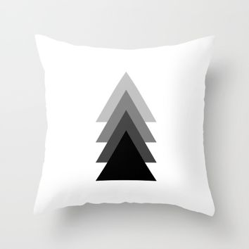 #34 Triangles Throw Pillow by Minimalist Forms