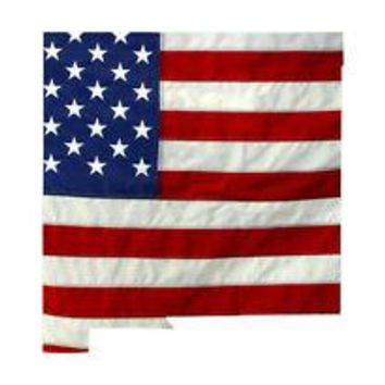 State of New Mexico Realistic American Flag Window Decal - Various Sizes