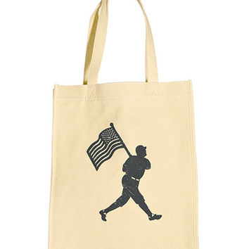 Flag Man USA Canvas Tote